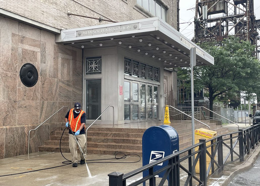 Power washing front